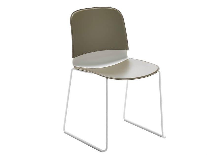 Sled base chair LIÙ T | Chair by Midj