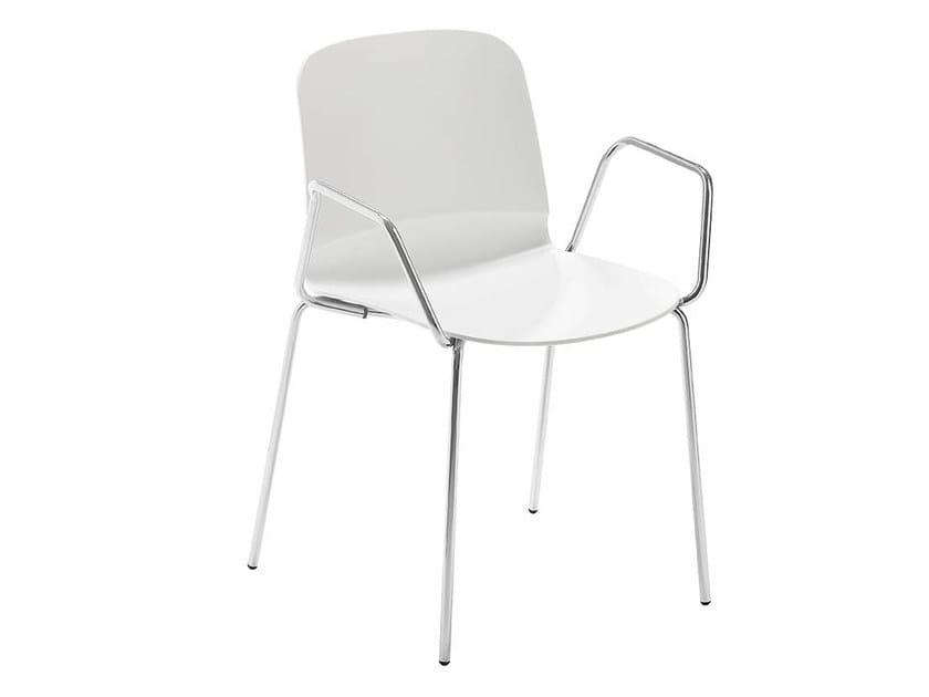 Chair with armrests LIÙ P | Chair with armrests by Midj