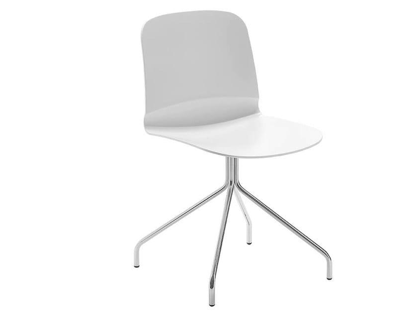 Trestle-based chair LIÙ X | Chair by Midj