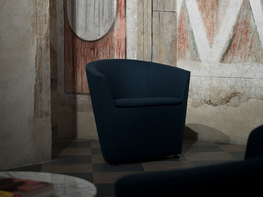 Fabric easy chair with armrests IPANEMA by Tacchini