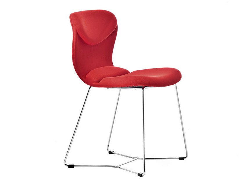 Sled base upholstered chair ITALIA | Sled base chair by Midj