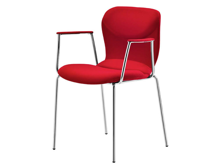 Upholstered chair with armrests ITALIA | Chair with armrests by Midj