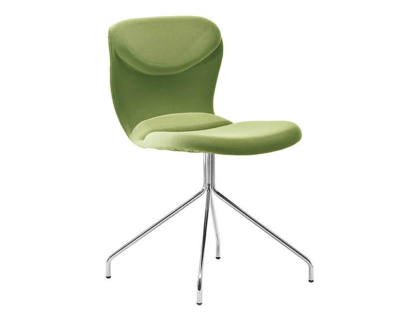 Upholstered trestle-based chair ITALIA | Trestle-based chair by Midj