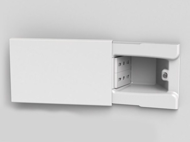 4-Module concealed electrical outlet HIDE4 by 4 BOX