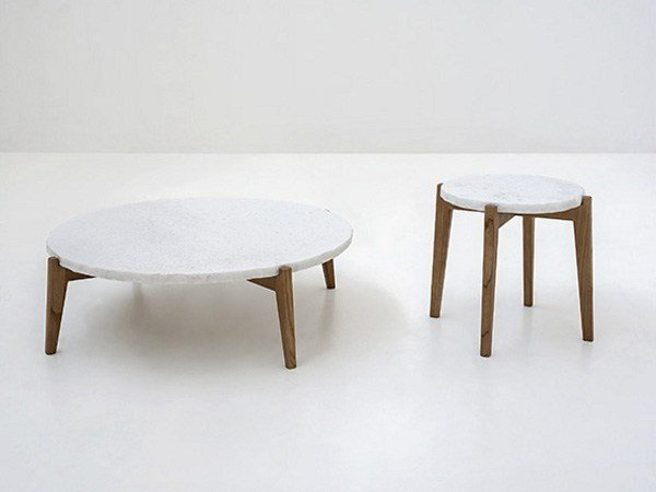 Round marble coffee table MONZINO by Tacchini