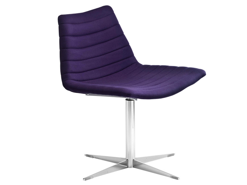Swivel easy chair with 4-spoke base COVER ATT F | Contemporary style easy chair by Midj