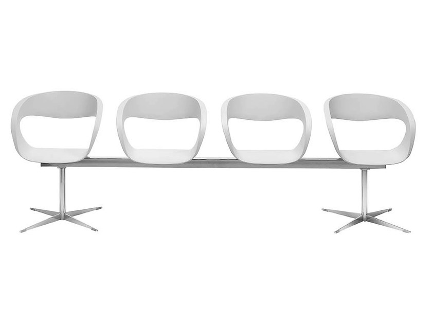 Baydur® beam seating with armrests RAFF | Beam seating by Midj