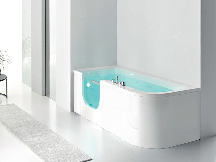 Corner whirlpool bathtub with shower FOR ALL By Gruppo Geromin ...