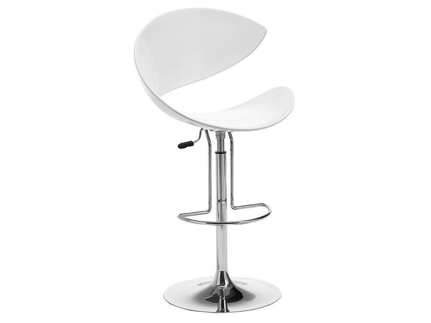 Height-adjustable stool with footrest TWIST | Height-adjustable stool by Midj