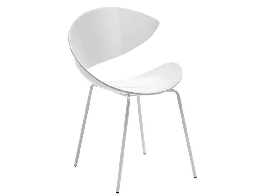 Sedia in plastica design TWIST I | Sedia in stile moderno - Midj
