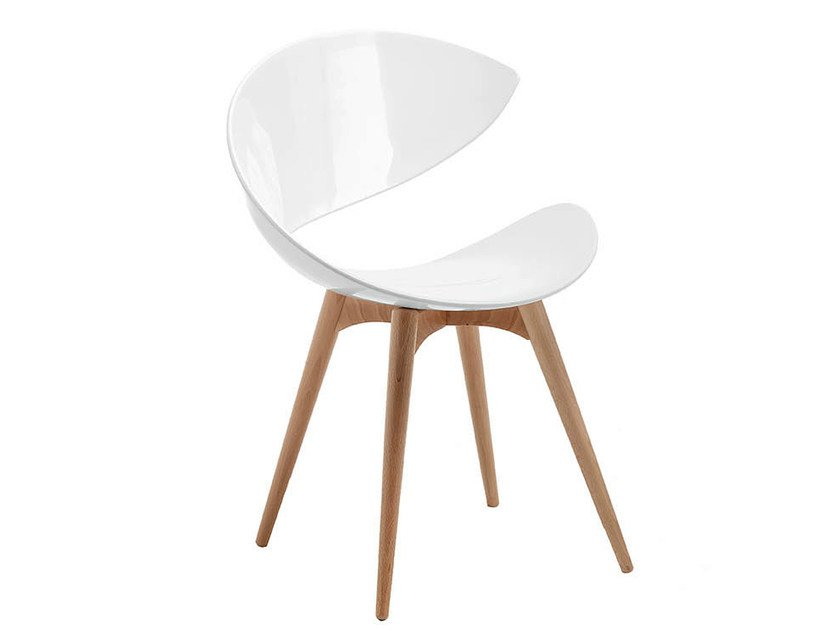 Wooden chair TWIST | Wooden waiting room chair by Midj