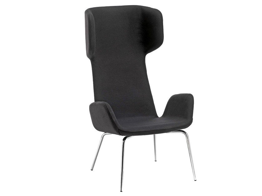 Upholstered wingchair with armrests LIGHT   Wingchair by Midj