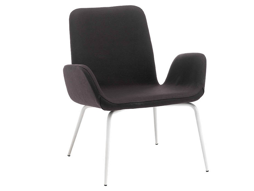 Upholstered armchair with armrests LIGHT   Armchair with armrests by Midj