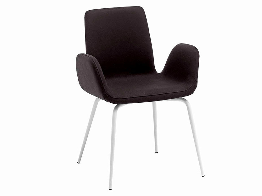 Upholstered chair with armrests LIGHT | Chair with armrests by Midj