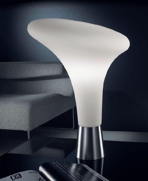 Blown glass floor lamp with dimmer BOLLARD | Floor lamp by PANZERI