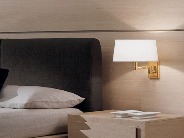Brass wall lamp with fixed arm CLASSIC   Wall lamp by PANZERI