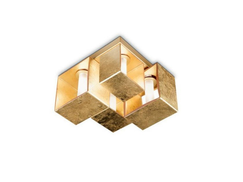 Blown glass ceiling lamp DOMINO   Ceiling lamp by PANZERI