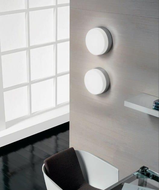 Blown glass wall lamp / ceiling lamp FLAN by PANZERI