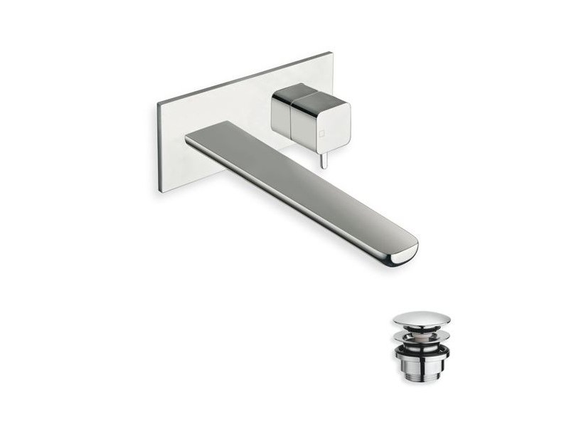 Wall-mounted chrome-plated washbasin mixer KING | Wall-mounted washbasin mixer by CRISTINA