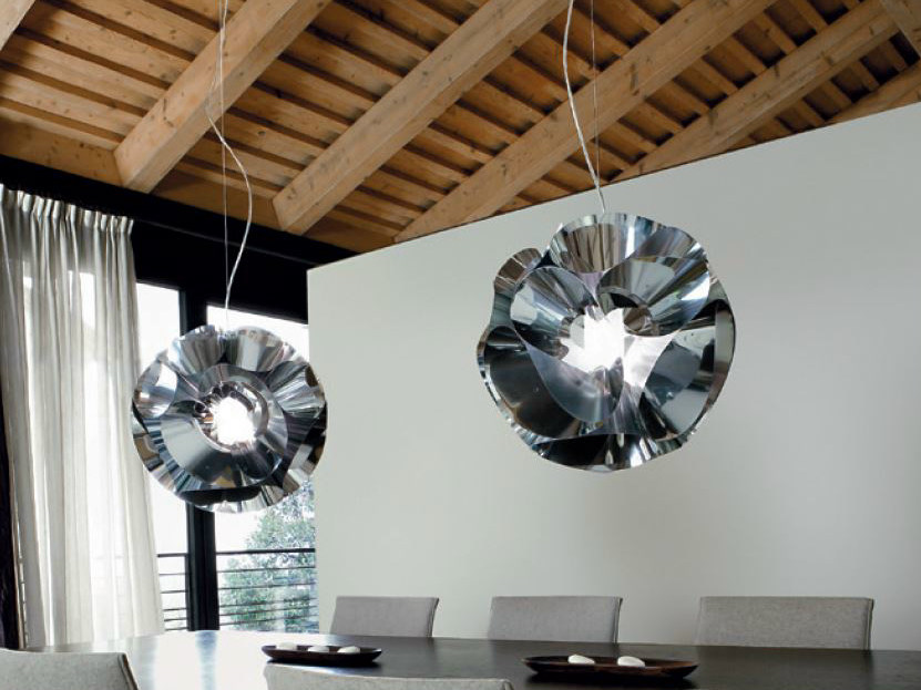 Aluminium pendant lamp FLORAL   Pendant lamp by PANZERI