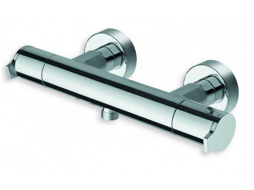 Chrome-plated single handle thermostatic shower mixer DIARIO | Thermostatic shower mixer by CRISTINA