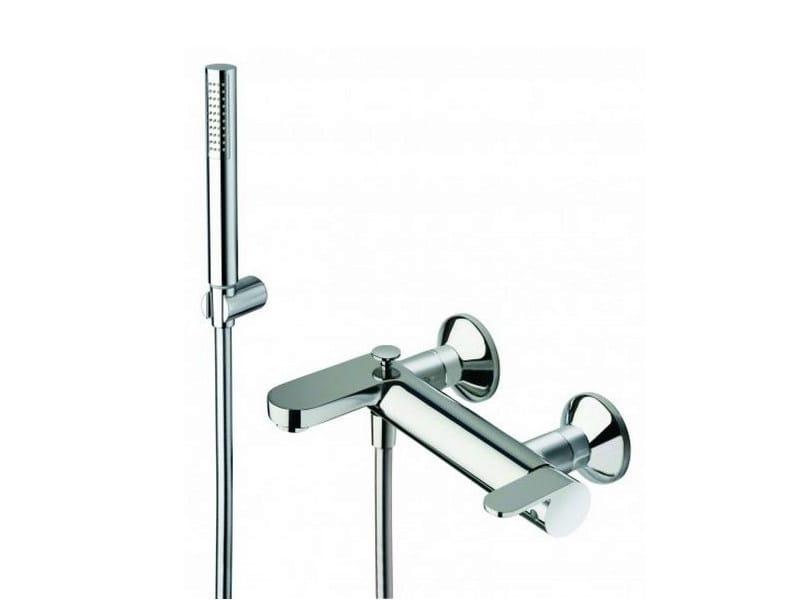 ROUND | Miscelatore per vasca con doccetta