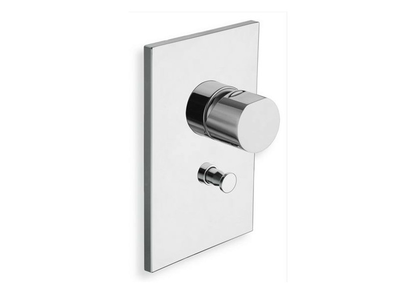 Chrome-plated shower mixer with diverter MODUL   Shower mixer with diverter by CRISTINA