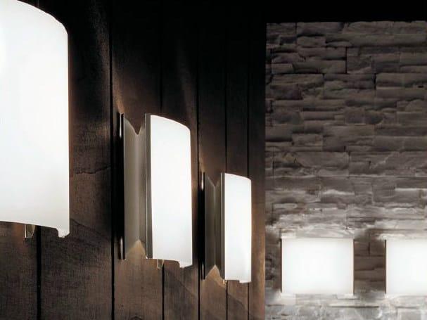 Opal glass wall lamp TECLA | Wall lamp by PANZERI