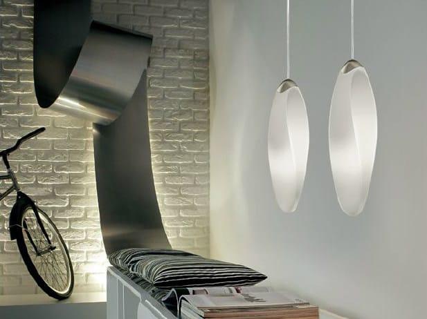 Blown glass pendant lamp TRACK   Pendant lamp by PANZERI