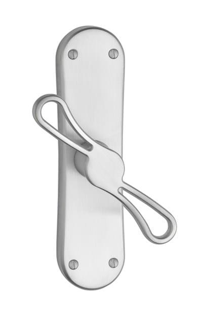 Design brass Cremone handle on back plate BARICÒ C17620   Brass Cremone handle by Enrico Cassina