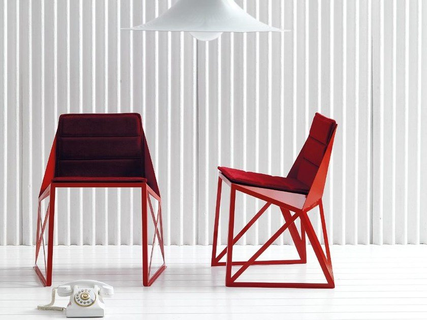 Sled base fabric chair ABARTH by Esedra