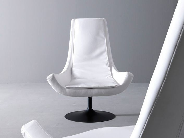 Swivel fabric armchair with armrests BELLA by Esedra