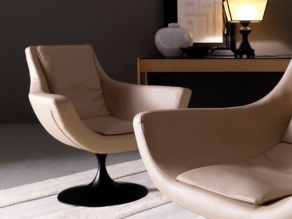 Swivel armchair with armrests BRAVA by Esedra