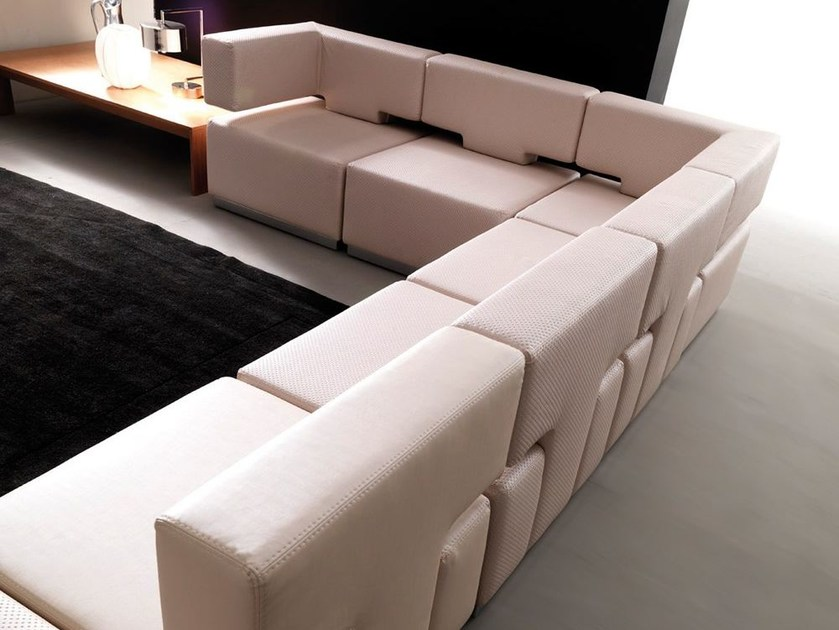 Sectional modular fabric sofa CODE by Esedra