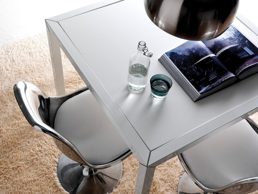 Square glass table DAN | Square table by Esedra