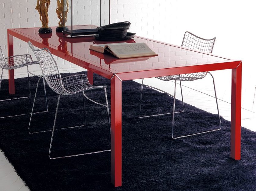 Rectangular steel table DAN | Rectangular table by Esedra