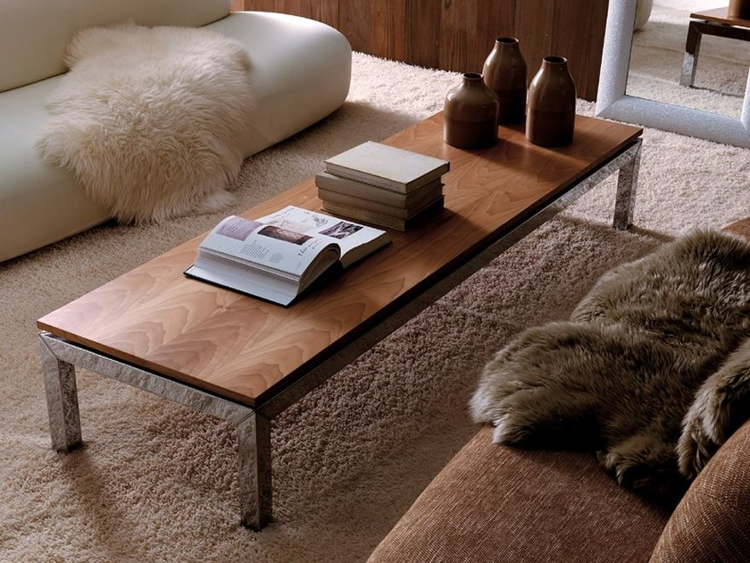 Low rectangular glass coffee table DAN | Coffee table by Esedra