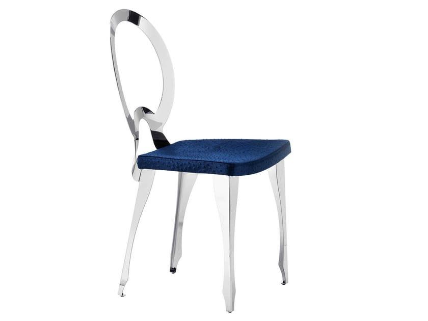 Medallion upholstered chair REVOLUTION | Medallion chair by Midj
