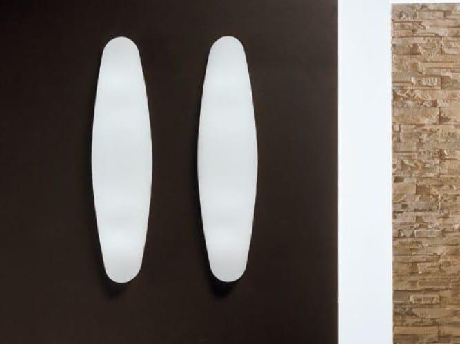 Blown glass wall light ZENITH | Blown glass wall light by PANZERI