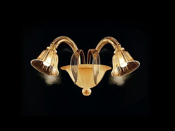 Murano glass wall lamp D'ORSAY | Wall lamp by PANZERI