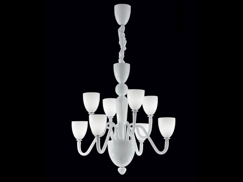 Murano glass chandelier MOMA   Chandelier by PANZERI