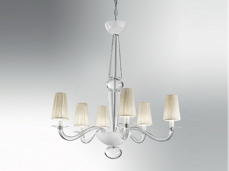 Murano glass chandelier PRADO | Chandelier by PANZERI