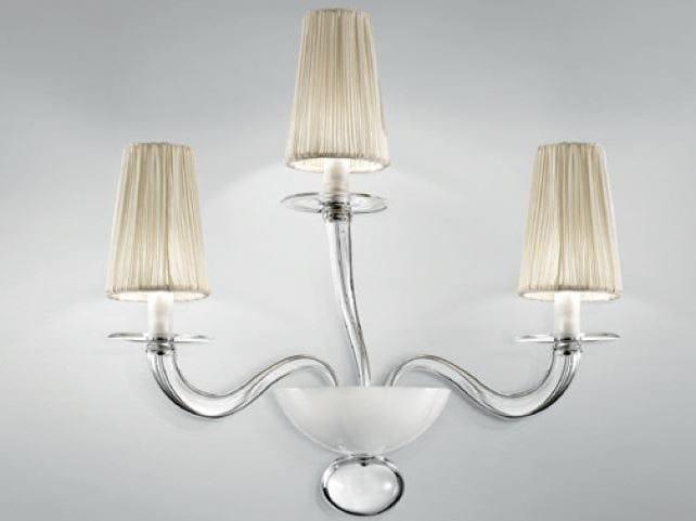 Murano glass wall lamp PRADO | Wall lamp by PANZERI