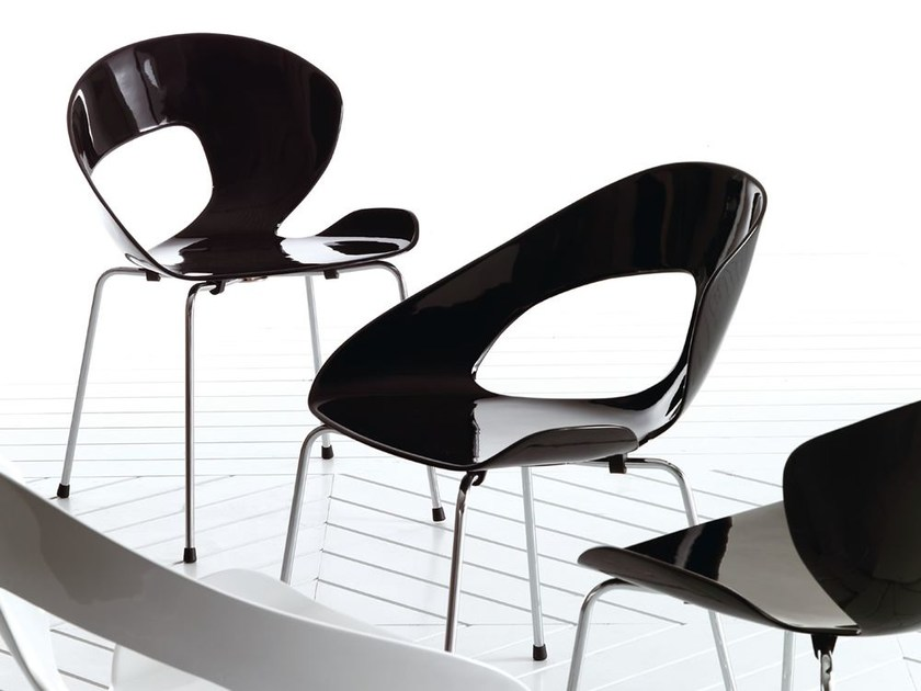 Stackable fiberglass chair MINIMA | Chair by Esedra