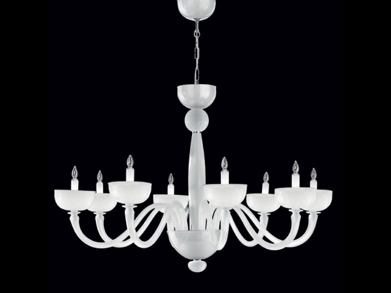Murano glass chandelier UFFIZI   Chandelier by PANZERI