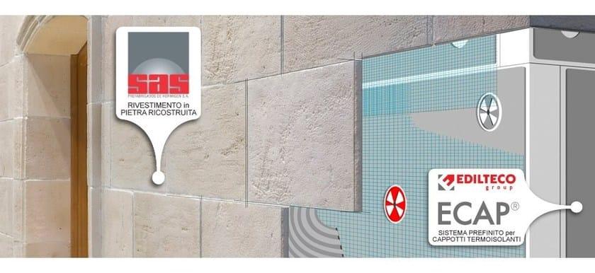DORDOGNE | Rivestimento di facciata in pietra artificiale Posa dordogne su cappotto ECAP Edilteco
