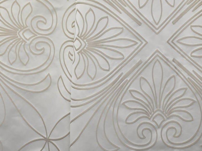 Iridescent damask Trevira® CS fabric TREFLE by LELIEVRE
