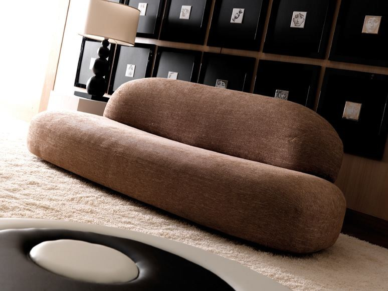 Upholstered 3 seater fabric sofa SCOOP | 3 seater sofa by Esedra