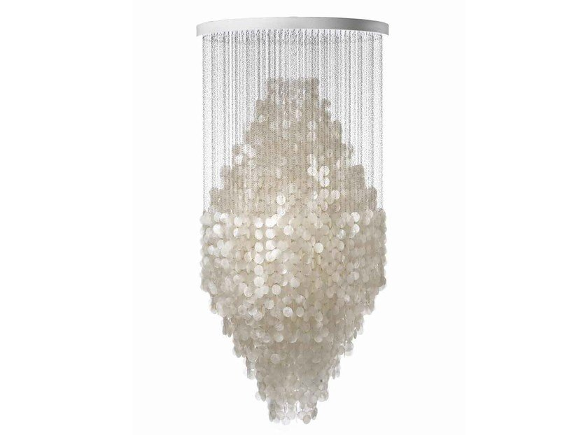 Mother of pearl pendant lamp FUN 8DM by Verpan