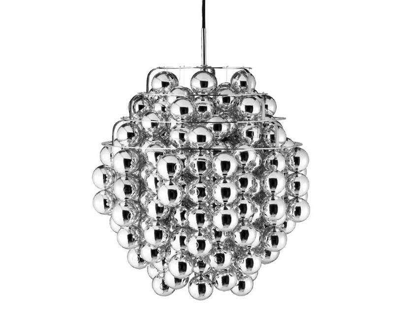 Direct-indirect light pendant lamp BALL by Verpan